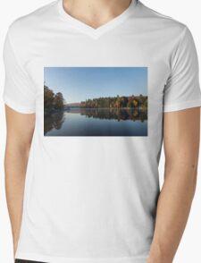 Lakeside Cottage Living - Peaceful Morning Mirror Mens V-Neck T-Shirt