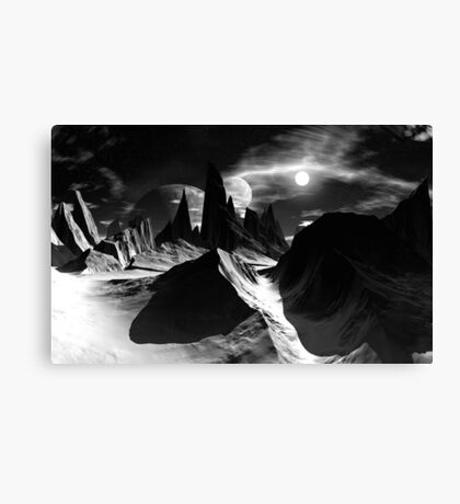 Land of Ice & Shadow Canvas Print