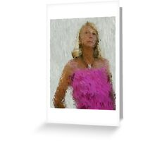 pink frills Greeting Card