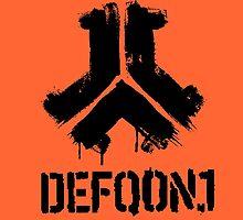 Defqon 1 2013 - Weekend Warriors - Logo 2 - Black by juen3000