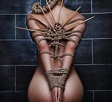 Nude Bound Waiting - Fine Art of Bondage by Rod Meier