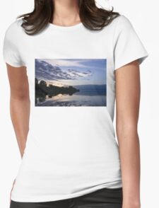 Purple Sunrise Clouds Womens Fitted T-Shirt