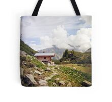 The Hut in the Mountains Tote Bag