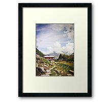 The Hut in the Mountains Framed Print