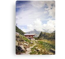 The Hut in the Mountains Metal Print