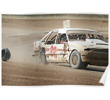 Peeled rubber, Mareeba Speedway Poster