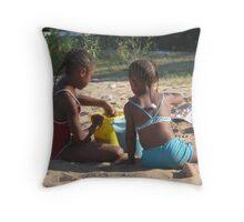 Fun In The Sand Throw Pillow