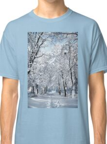 Walking in a winter park Classic T-Shirt