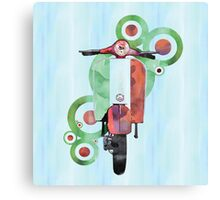 Watercolour scooter art Canvas Print