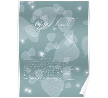 Leaves for Luck Poster