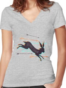Bravery Flavour Women's Fitted V-Neck T-Shirt