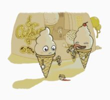 Ice cream eating children comic Kids Clothes