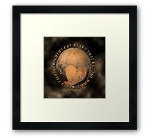 PLUTO'S GOT ♥ THAT HAS THE WHOLE WORLD TALKING--PICTURE-PILLOW-TOTE BAG ECT. Framed Print