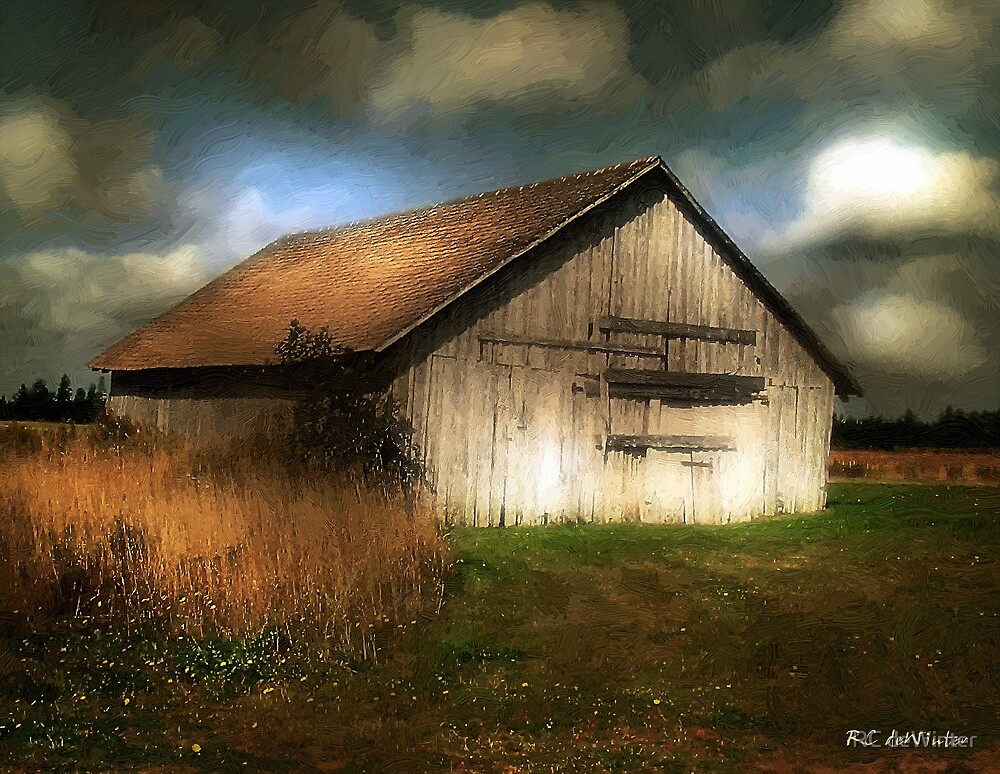 Sunrise in the Fields by RC deWinter