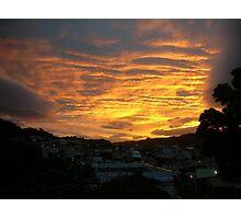 Sunset over Wellington Photographic Print