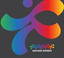 Bangkok Runners | gray background by Lin Da