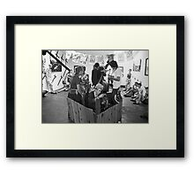Crass Art exhibition and performance at Art Unit Framed Print