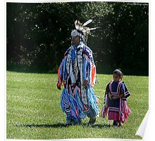 native pride,father and daughter Poster