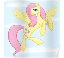Fluttershy flying - with background Poster