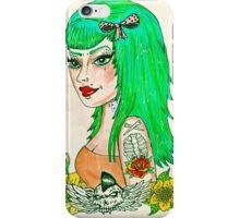 Psychobilly Babe iPhone Case/Skin