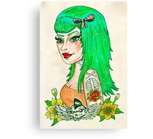 Psychobilly Babe Canvas Print