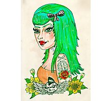 Psychobilly Babe Photographic Print