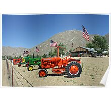 Patriotic Tractors For Sale in the Country Poster
