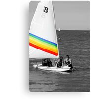 rainbow sail Canvas Print