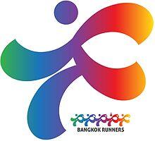 Bangkok Runners | solo runner, gradient by Lin Da