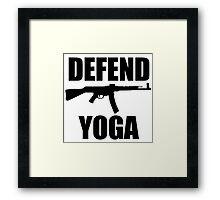 DEFEND YOGA Framed Print