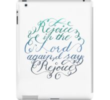 Rejoice in the Lord Always - color iPad Case/Skin