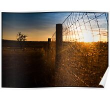 Country sunset- Queensland Australia Poster
