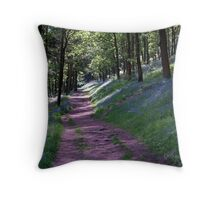 Bluebell Walk of the Lady Bower Throw Pillow