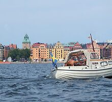 Boating in Stockholm by Kathleen Brant