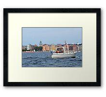 Boating in Stockholm Framed Print
