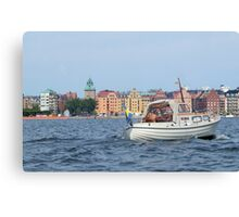 Boating in Stockholm Canvas Print