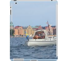 Boating in Stockholm iPad Case/Skin