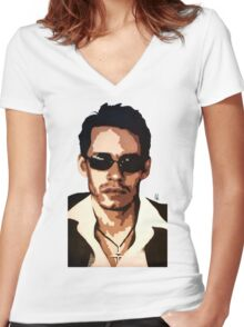 Marc Anthony Women's Fitted V-Neck T-Shirt