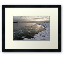 Mini Ice Floes on the Lake Framed Print