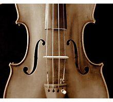 copy of Stradivarious 'Soil' 1714 (sepia) © 2010 patricia vannucci  Photographic Print