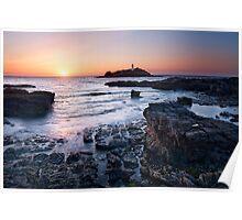 Cornwall - Godrevy Lighthouse Poster
