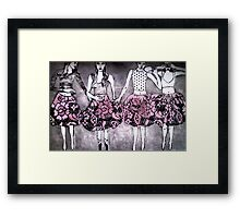 Dancing Girls - Edition 1 Drypoint Etching Framed Print