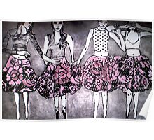 Dancing Girls - Edition 1 Drypoint Etching Poster