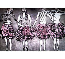 Dancing Girls - Edition 1 Drypoint Etching Photographic Print
