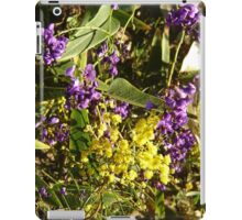 Native Purple Vine iPad Case/Skin