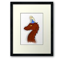 Dany and Smaug Framed Print