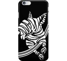 Zebra EBT White  iPhone Case/Skin