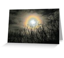 Mother of Pearl moon Greeting Card