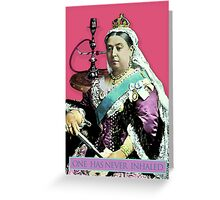 The Queen and the Hookah Greeting Card