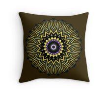 Golden Circle Throw Pillow